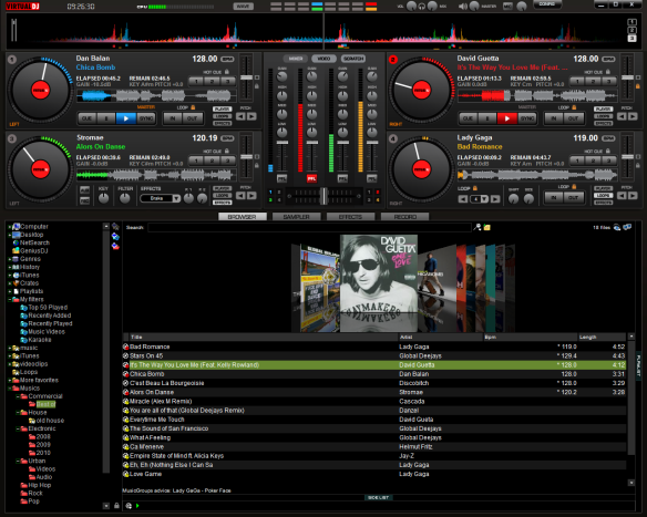 Captura de pantalla de Virtual DJ Pro 7