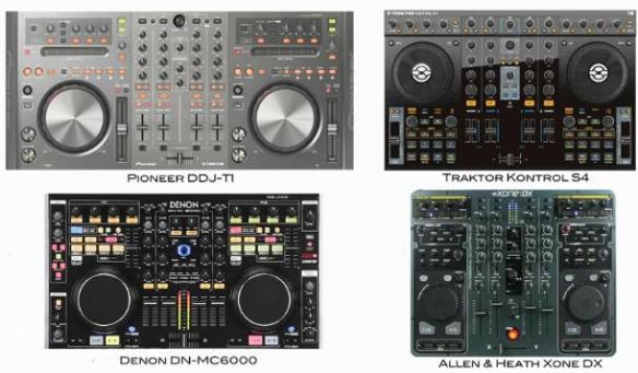 Comparativa de tamaños entre varias controladoras de gama alta