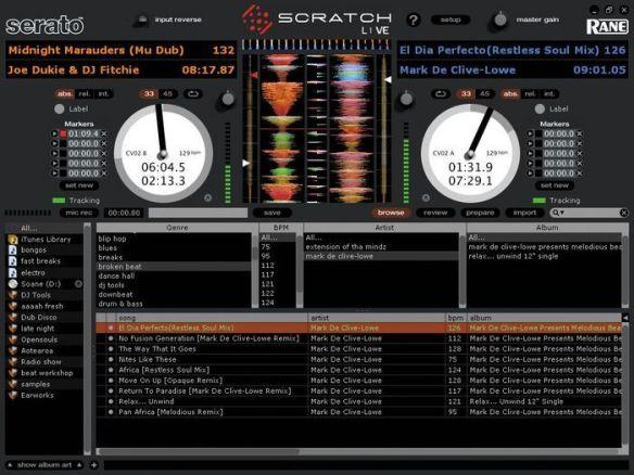 Captura de pantalla de Serato Scratch Live